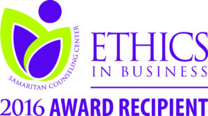 Samaritan Counseling Center Ethics in Business Award Winner 2016
