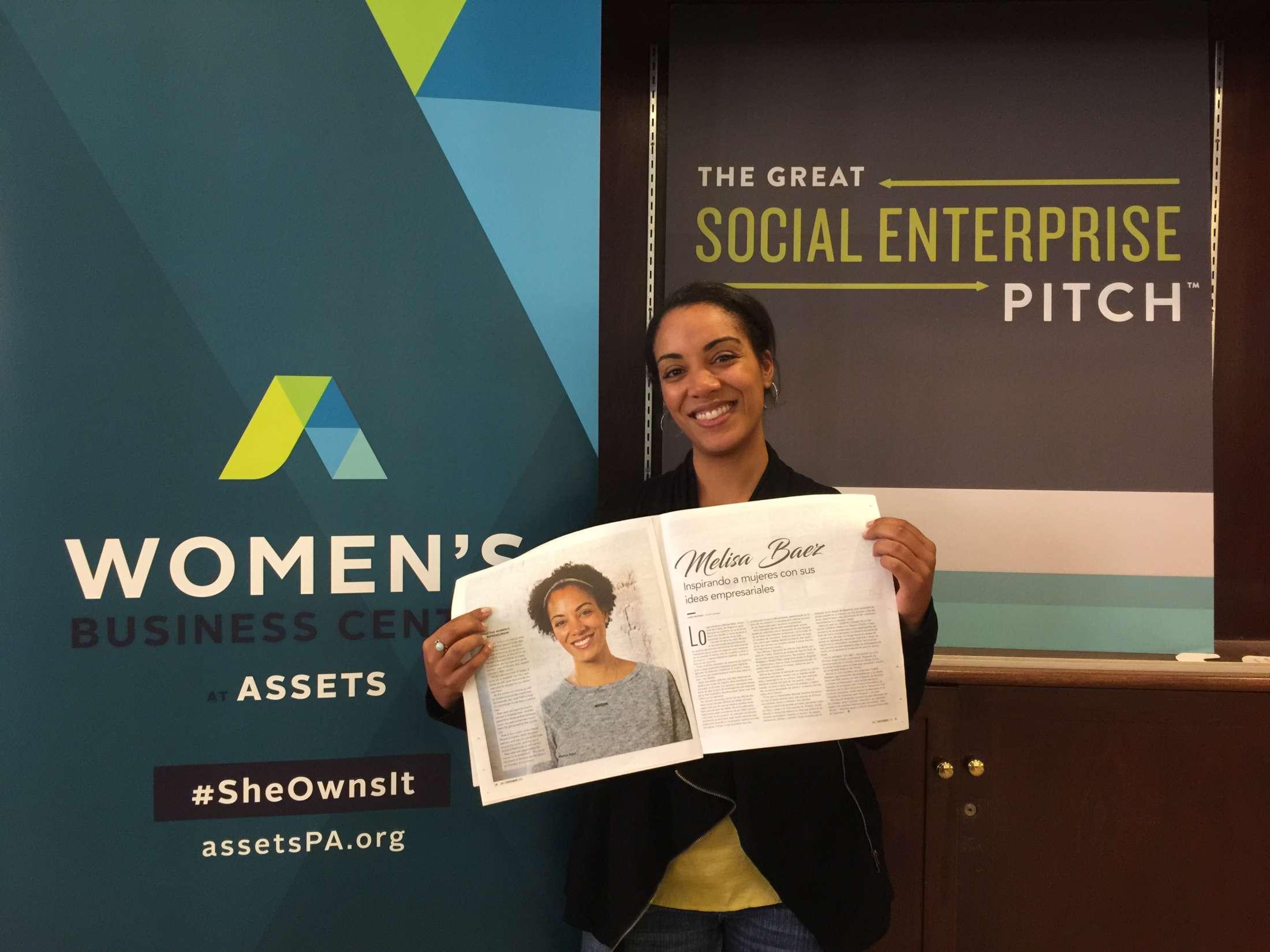 Melisa Baez, Director of Women's Business Center in Lancaster, PA, featured in La Voz
